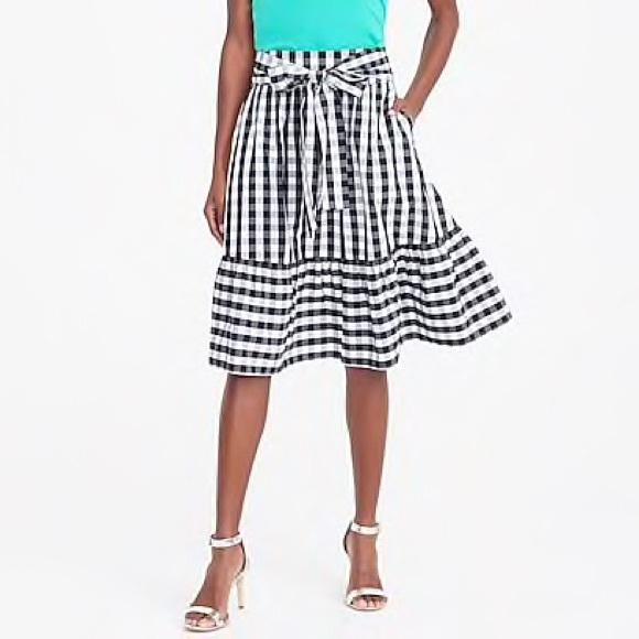 5ab173b60a5 J. Crew Tie- Waist Midi Skirt